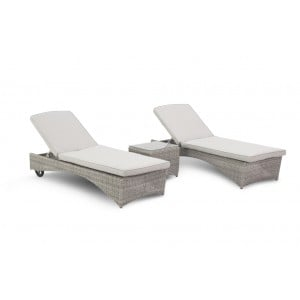 Maze Rattan Oxford 3 Piece Sunlounger Set