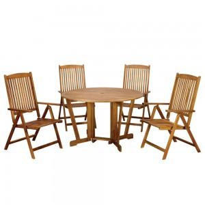 Royalcraft Henley Manhattan 4 Seater Gateleg Round Dining Set