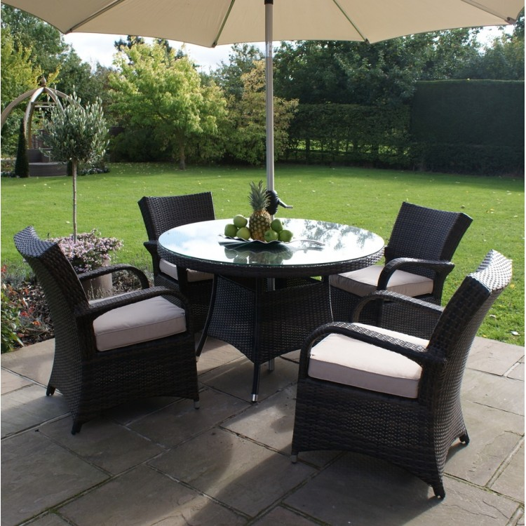 Rattan 4 Seater Dining Sets