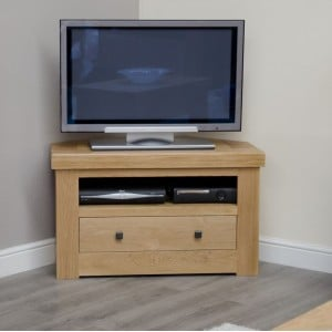 Bordeaux Solid Oak Furniture Corner TV Unit