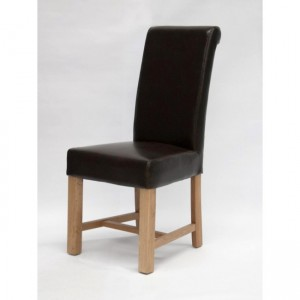 Homestyle Chair Collection Louisa Brown Leather Dining Chair Pair