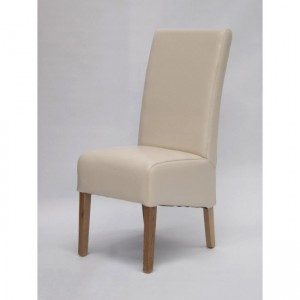 CLEARANCE Homestyle Chair Collection Oslo Ivory Leather Dining Chair Pair