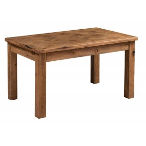 Homestyle Aztec Oak Furniture Rustic Dining Table 140cm