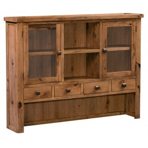 Homestyle Aztec Oak Furniture Rustic Glazed Dresser Top