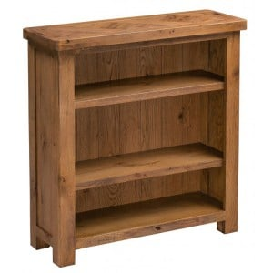 Homestyle Aztec Oak Furniture Rustic Small 3 Shelf Bookcase