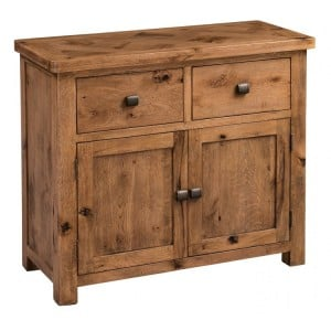 Homestyle Aztec Oak Furniture Rustic Small 2 Door Sideboard