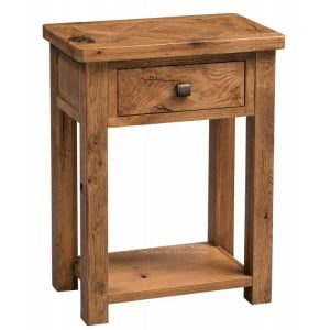 Homestyle Aztec Oak Furniture Rustic 1 Drawer Telephone Table