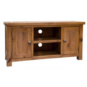 Homestyle Aztec Oak Furniture Rustic 2 Door TV Stand