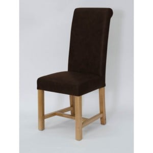 Homestyle Chair Collection Henley Espresso Leather Dining Chair Pair