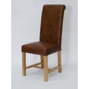 Homestyle Chair Collection Henley Mocha Leather Dining Chair Pair