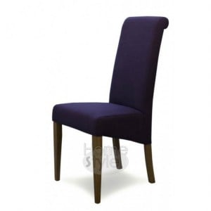 Homestyle Chair Collection Italia Purple Fabric Chair Pair