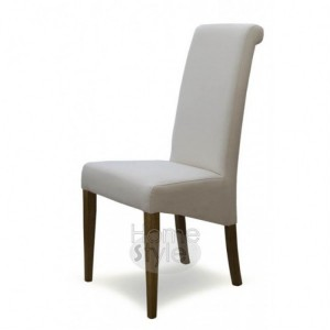 Homestyle Chair Collection Italia Ivory Fabric Chair Pair