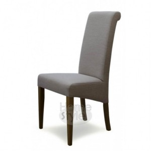 Homestyle Chair Collection Italia Beige Fabric Chair Pair