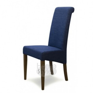 Homestyle Chair Collection Italia Blue Fabric Chair Pair