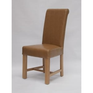 Homestyle Chair Collection Louisa Tan Leather Dining Chair Pair