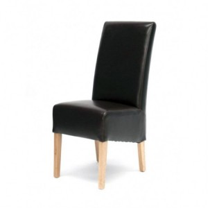 Homestyle Chair Collection Oslo Brown Leather Dining Chair Pair