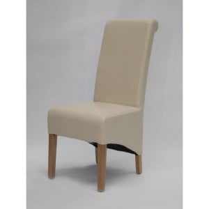 Homestyle Chair Collection Richmond Ivory Leather Dining Chair Pair