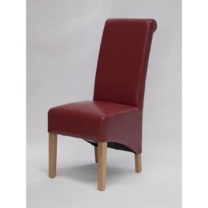 Homestyle Chair Collection Richmond Red Leather Dining Chair Pair
