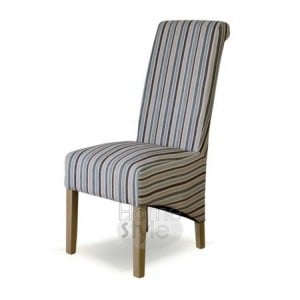 Homestyle Chair Collection Richmond Striped Fabric Chair Natural Pair