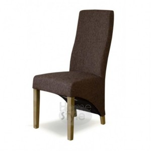 Homestyle Chair Collection Fabric Wave Tweed Dark Brown Pair