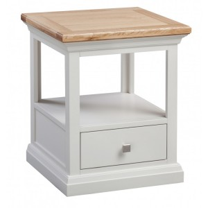 Homestyle Cotswold Two-Tone Oak Furniture 1 Drawer Lamp Table