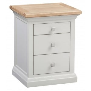 Homestyle Cotswold Two-Tone Oak Furniture 3 Drawer Bedside Table