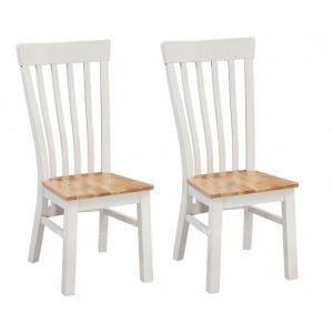 Homestyle Cotswold Two-Tone Oak Furniture Dining Chair Pair