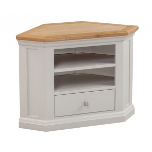 Homestyle Cotswold Two-Tone Oak Furniture Corner TV Cabinet