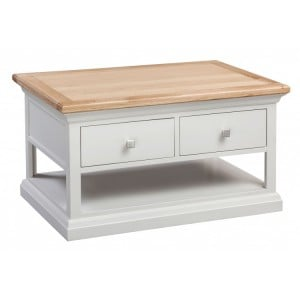 Homestyle Cotswold Two-Tone Oak Furniture 2 Drawer Coffee Table