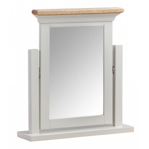 Homestyle Cotswold Two-Tone Oak Furniture Vanity Dressing Table Mirror