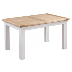 Homestyle Cotswold Two-Tone Oak Furniture Extending Table