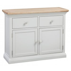 Homestyle Cotswold Two-Tone Oak Furniture Small 2 Door Sideboard
