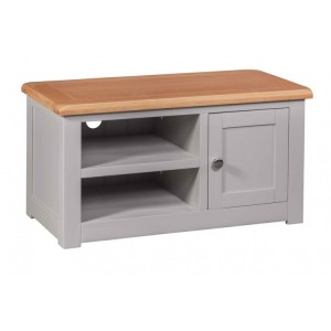 Homestyle Diamond Grey Painted Furniture 1 Door TV Cabinet