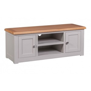 Homestyle Diamond Grey Painted Furniture 2 Door TV Cabinet