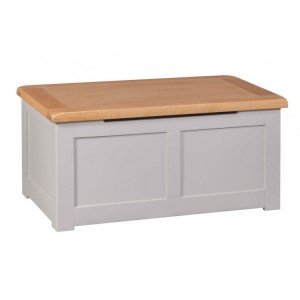 Homestyle Diamond Grey Painted Furniture Blanket Box