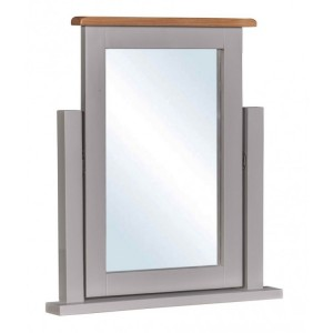 Homestyle Diamond Grey Painted Furniture Dressing Table Mirror