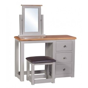 Homestyle Diamond Grey Painted Furniture Dressing Table & Stool Set