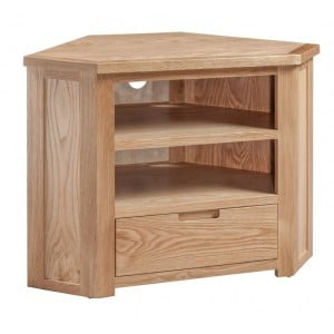 Homestyle Moderna Oak Furniture Corner TV Unit