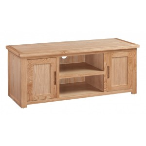 Homestyle Moderna Oak Furniture Large 2 Door TV Stand