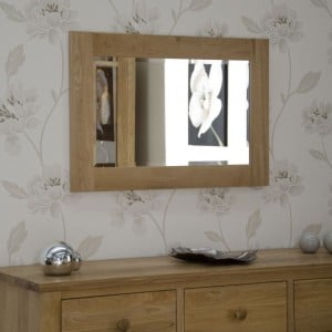 Homestyle Opus Solid Oak Furniture 900 x 600mm Wall Mirror