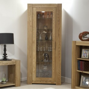 Homestyle Trend Oak Furniture 1 Door Bookcase Display Unit