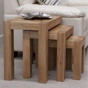 Homestyle Trend Oak Furniture Nest Of Tables