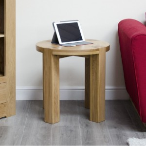 Homestyle Trend Oak Furniture Round Lamp Table