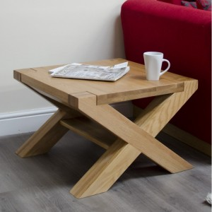 Homestyle Trend Oak Furniture X-Leg 2ft x 2ft Coffee Table