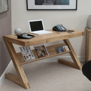 Homestyle Z Solid Oak Furniture Computer Desk