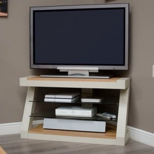 Homestyle Z Painted Oak Furniture Corner TV Unit