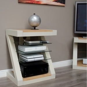 Homestyle Z Painted Oak Furniture Hi Fi Unit