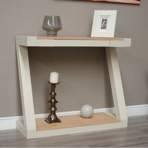 Homestyle Z Painted Oak Furniture Console Table