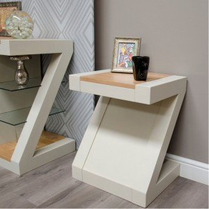 Homestyle Z Painted Oak Furniture Lamp Table