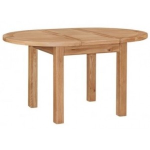 Canterbury Wax Oak Furniture 150cm Round Extending Dining Table
